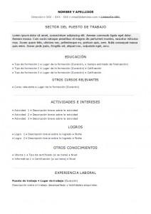 curriculum-basico-sin-experiencia