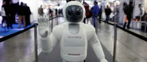 MADRID, SPAIN - JANUARY 28: A robot is seen during International Robotics Fair at Pabellon de Cristal in Madrid, Spain on January 28, 2016. (Photo by Burak Akbulut/Anadolu Agency/Getty Images)