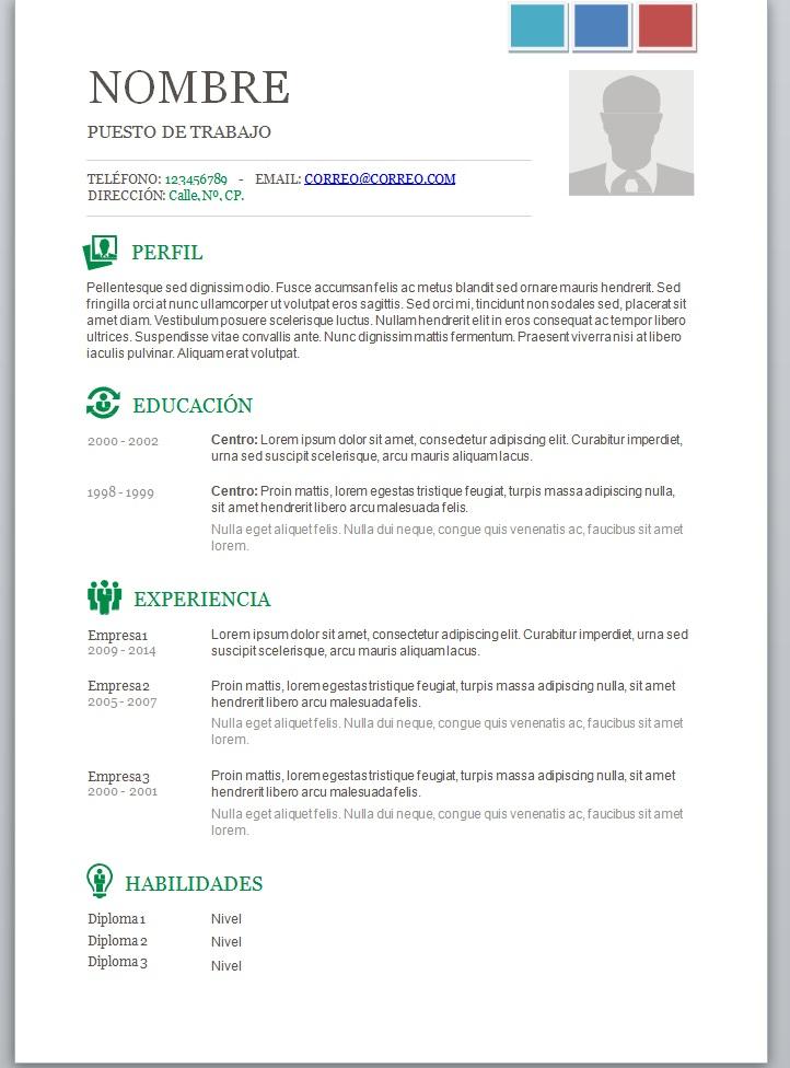 Modelos De Curriculum Vitae En Word Para Completar Trabajemos