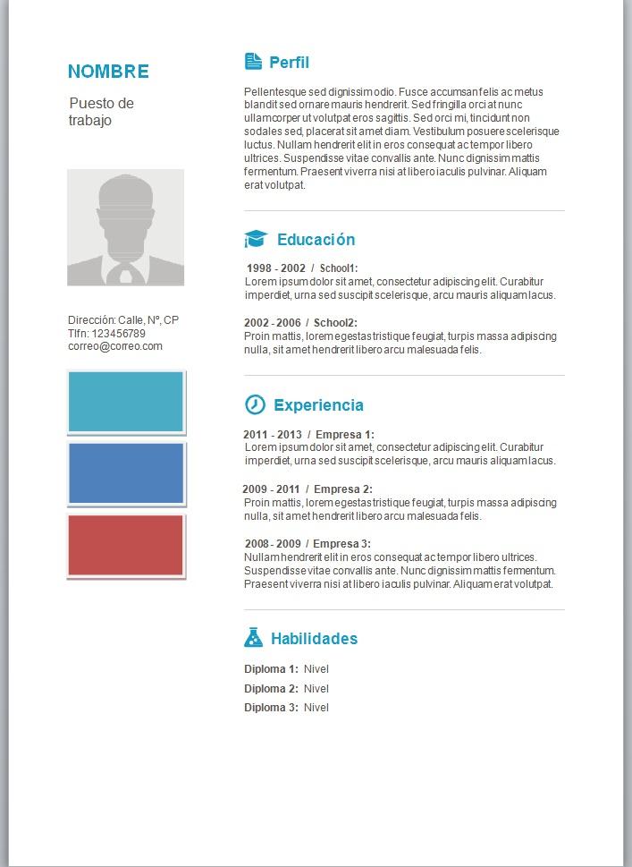 Modelos de currículum vitae en word para completar – trabajemos